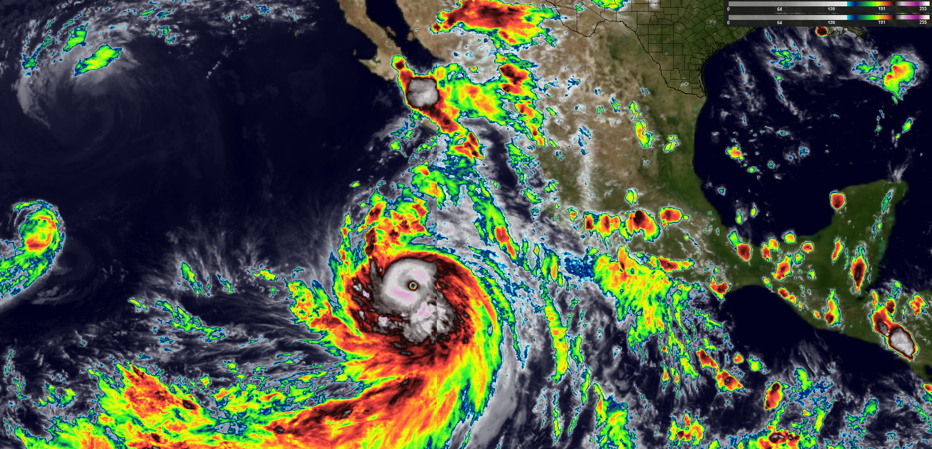 IR satellite image of Major Hurricane Marie in the eastern Pacific Ocean.