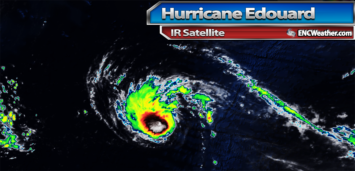 IR satellite image of Hurricane Edouard.
