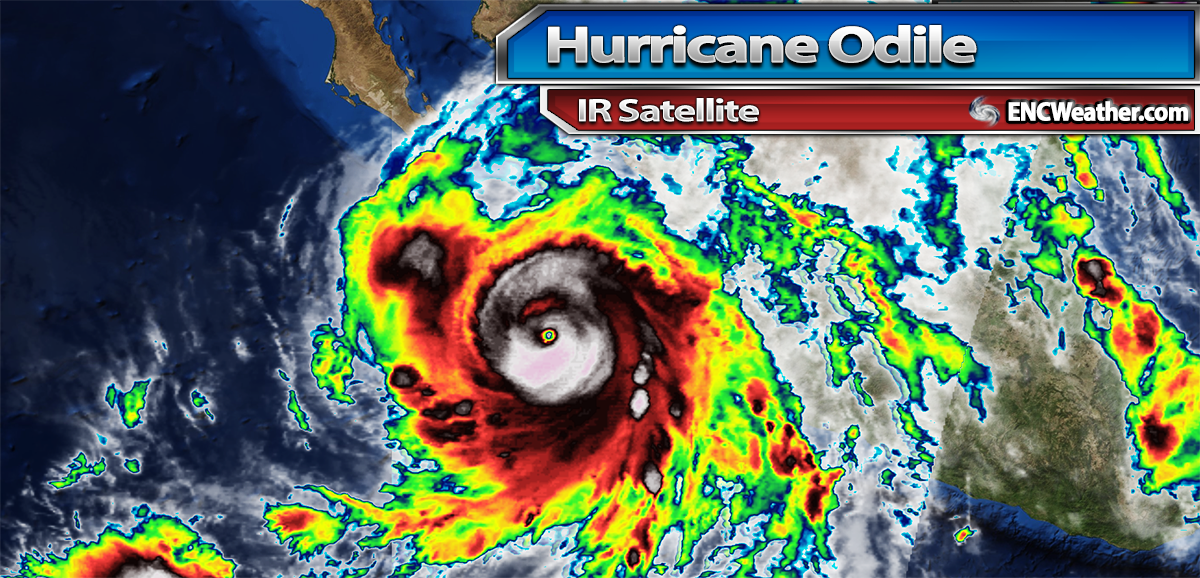 IR image of Major Hurricane Odile.