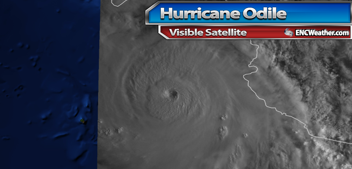 Visible satellite image of Major Hurricane Odile.