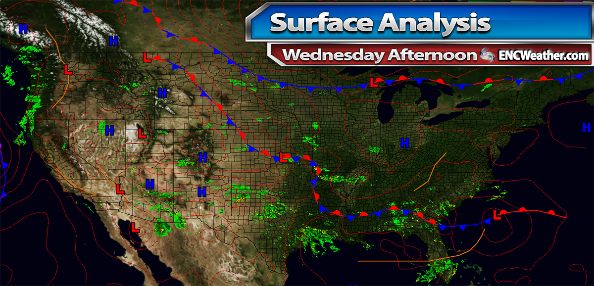 Surface analysis as of Wednesday afternoon.