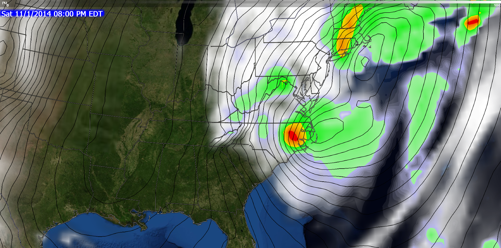 18Z GFS has the bulk of heaviest rain over ENC by Saturday evening.