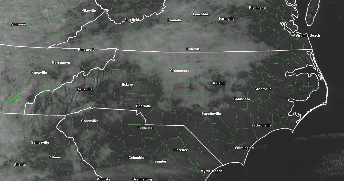 Mid-level clouds moving into the region from the west this evening and should increase in coverage through tonight.